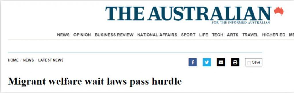 风云变,澳洲移民PR要等4年才能享受福利