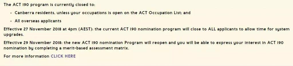 启用全新评分表,澳洲ACT新政将在11月29日全面生效